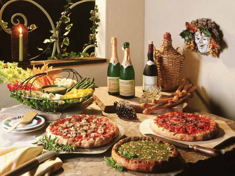 Интерьеры необычных пиццерий