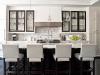 Черно-белый дуэт в интерьере кухни