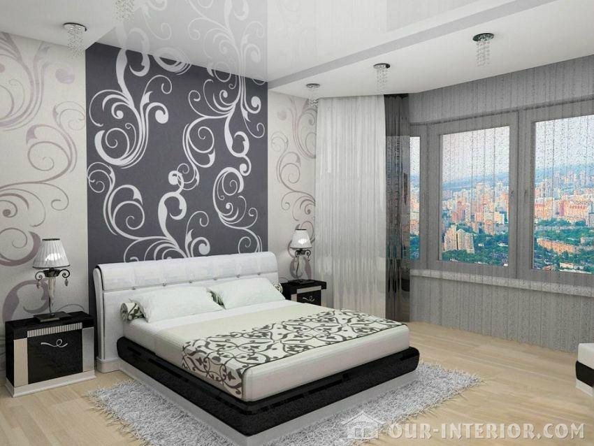 Черно белый интерьер комнаты