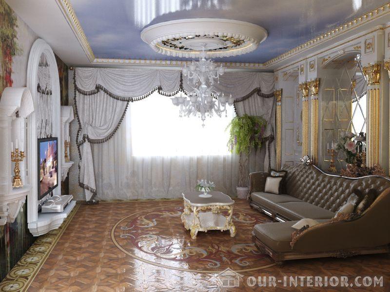 Интерьер зала в доме своими руками