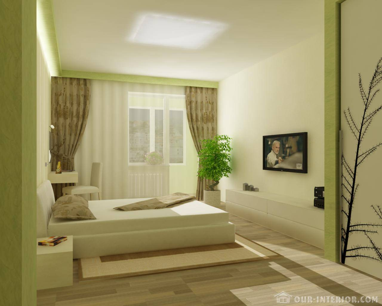 Our for Bedroom interior designs green