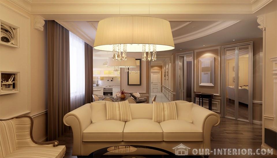 Интерьер небольшой гостиной комфорт