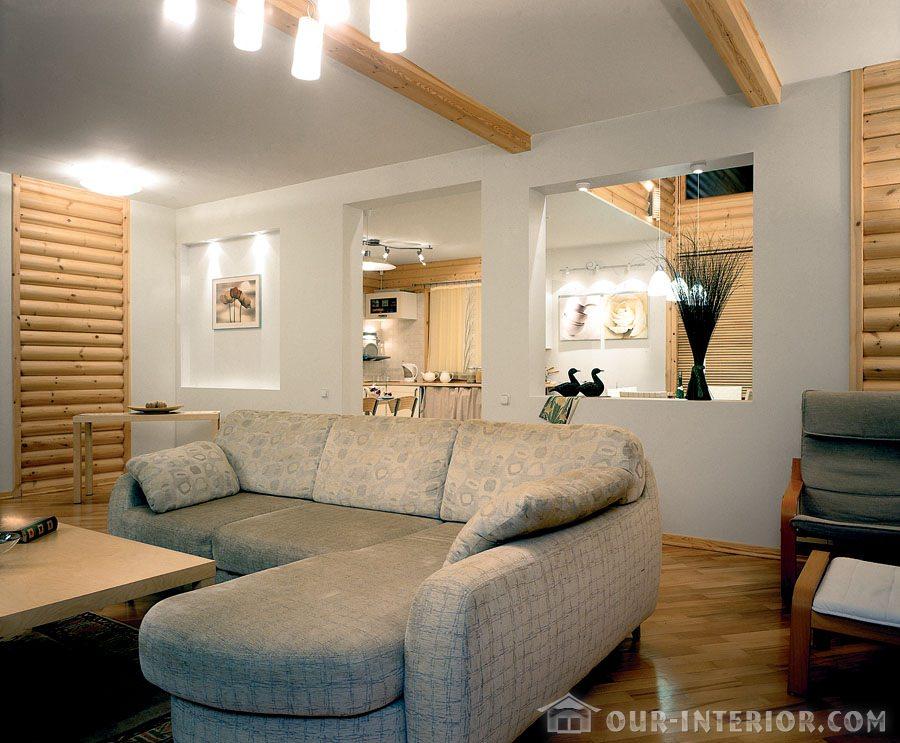 Фото дизайн дома из бревна