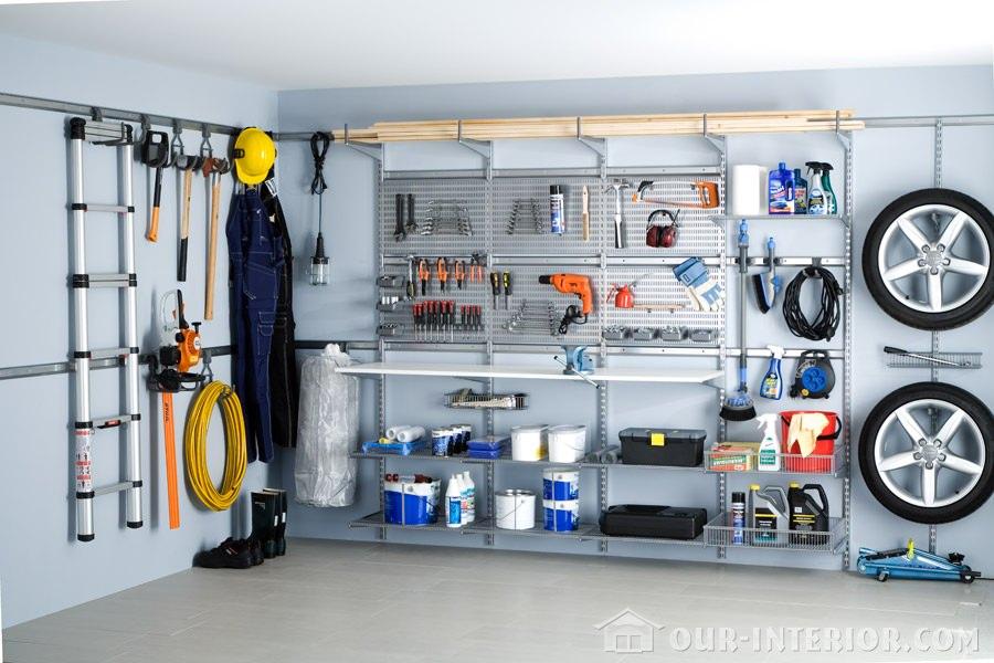 Интерьер гаража в доме