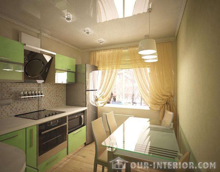 Фото кухни 8 кв.м с интерьером