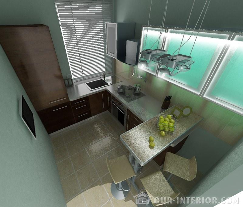 Интерьер маленькой спальни в хрущевке эксклюзивно на Our: Интерьер маленькой кухни в хрущевке