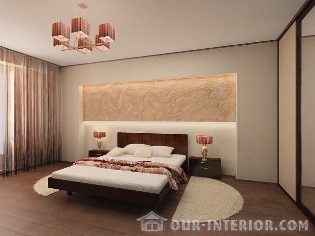 Дизайн спальни 12 кв м - 1 фото-идей интерьера и