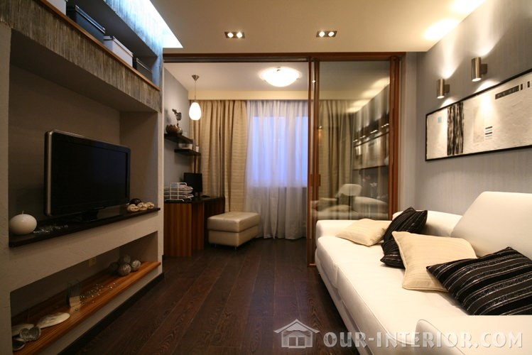 Интерьер комнаты 12 кв
