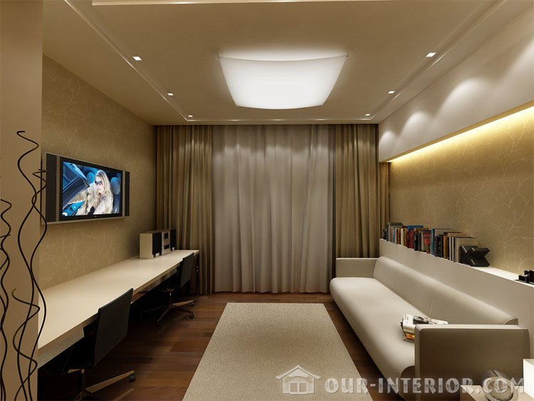 Интерьер узкой комнаты 12 кв м
