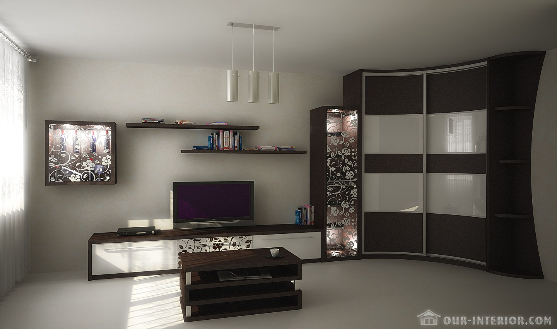 Встроенная Мебель Для Гостиной Фото Москва