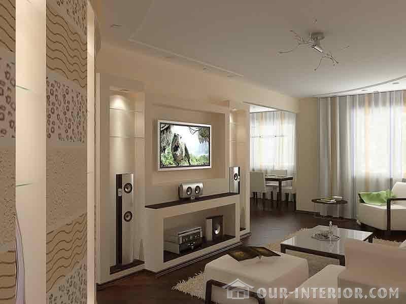Интерьер гостиной в доме 18 кв.м