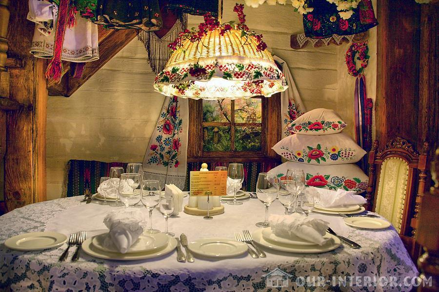 Украинский стиль в интерьере фото