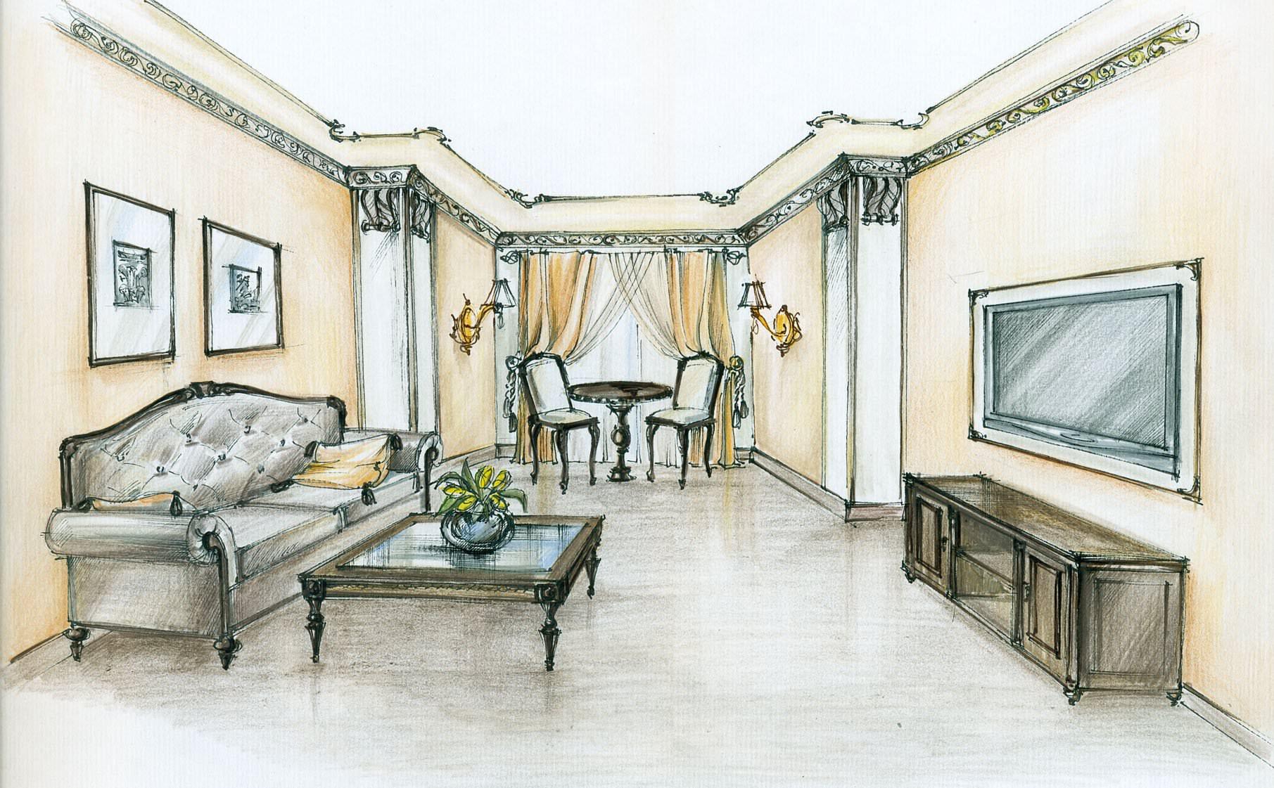 Дизайн проект интерьера комнаты