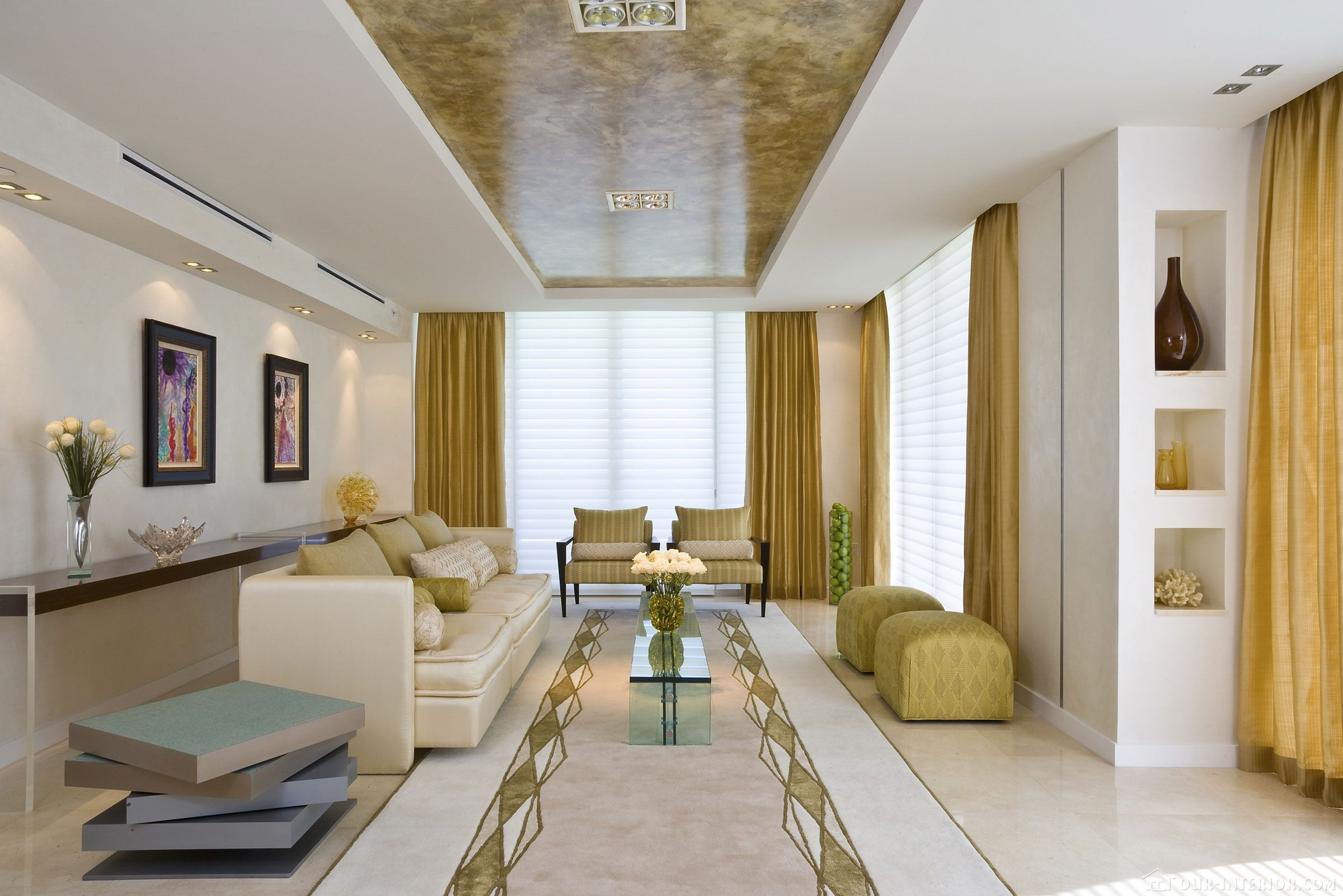 Дизайн цвета потолка