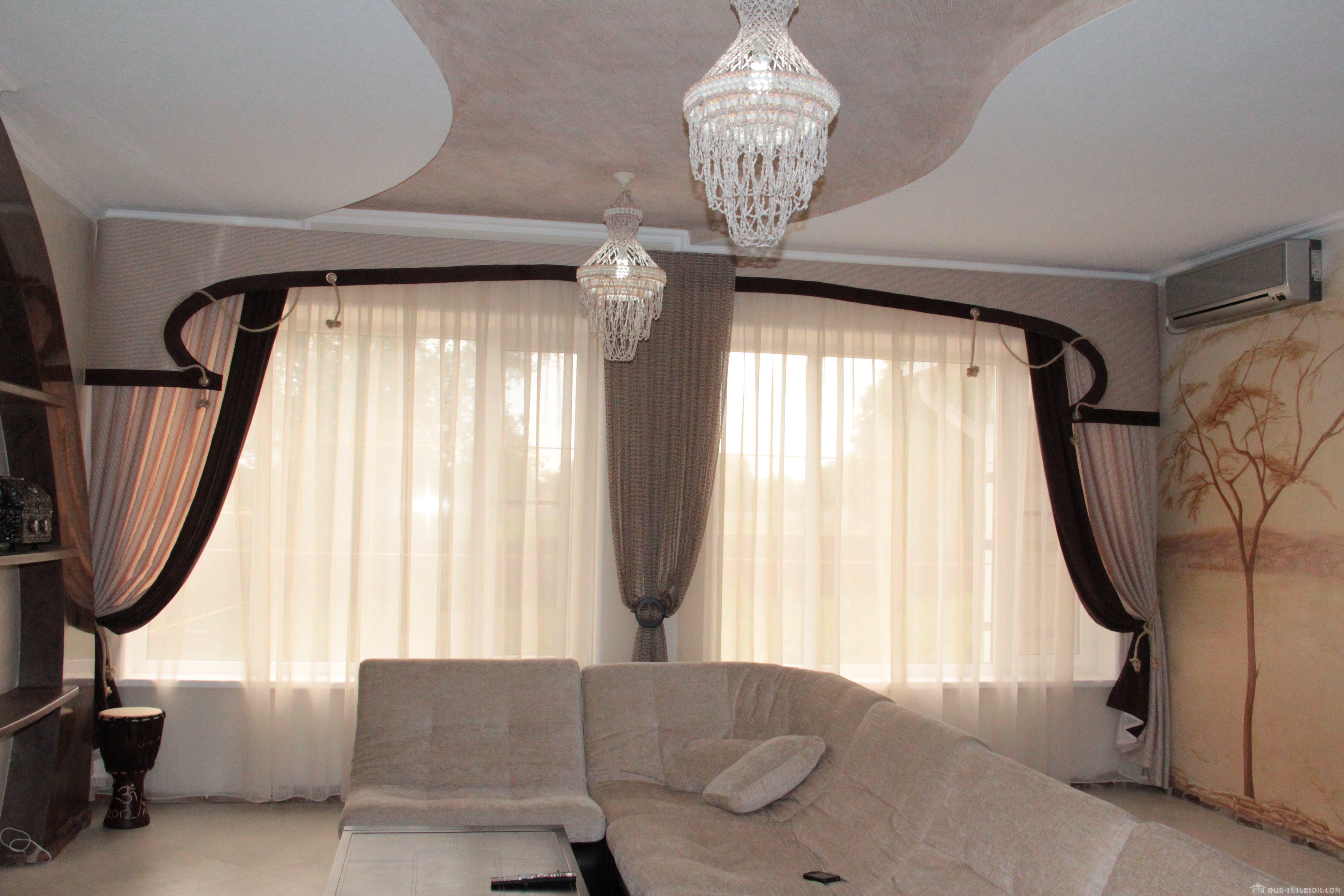 Дизайн штор без ламбрекена для гостиной дизайн