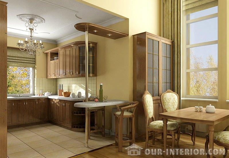 Кухня со столовой фото