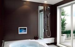 Коричневый цвет в туалете и ванной – классическое сочетание