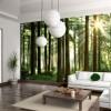Эксклюзивный дизайн гостиной – оформляем стены фотообоями!