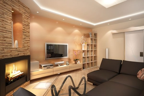 Декоративный камень в интерьере квартиры - фото и советы