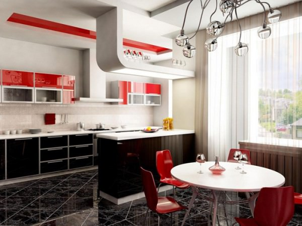 Интерьер кухни размером 10 кв. м.