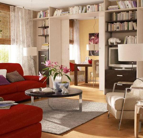 Интерьер маленькой гостиной - фото и советы