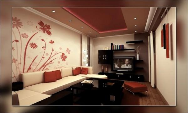 Красивый и современный интерьер гостиной в квартире
