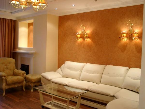 Богатое оформление стен интерьера - декоративная штукатурка в интерьере