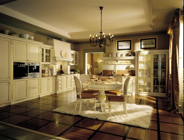 Модная кухня – интерьер открытого пространства