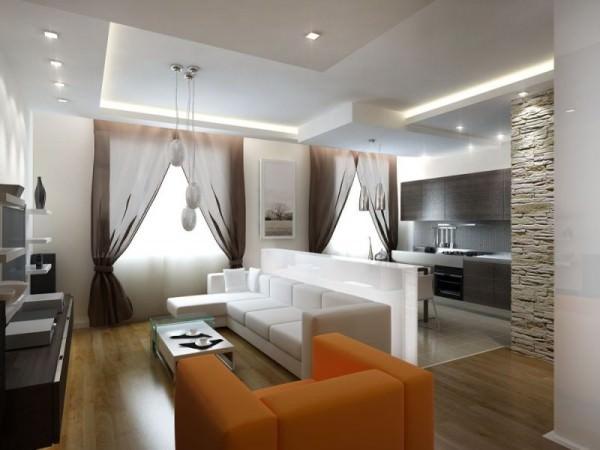 Интерьер гостиной в квартире - фото и советы