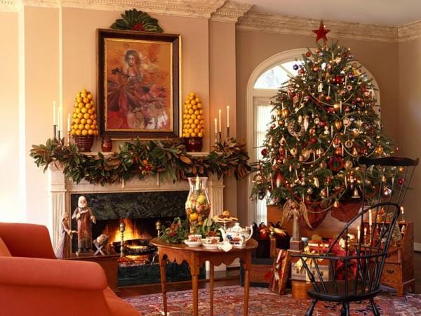 Новогоднее украшение интерьера в 2013 году