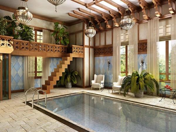 Выбираем отделку для бассейна в загородном доме