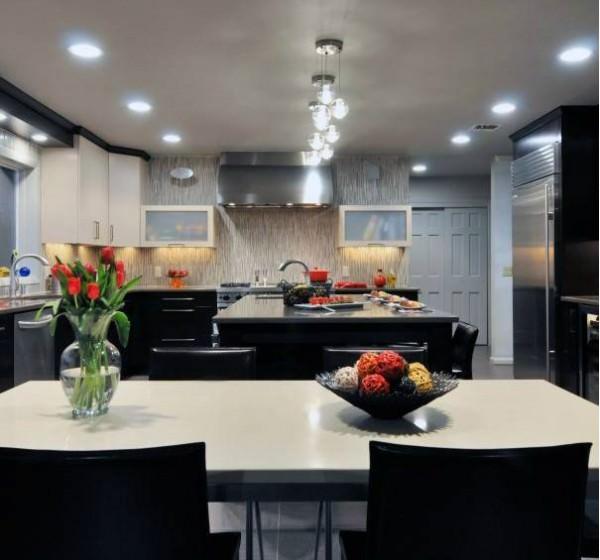 Модный интерьер - кухня в стиле кафе