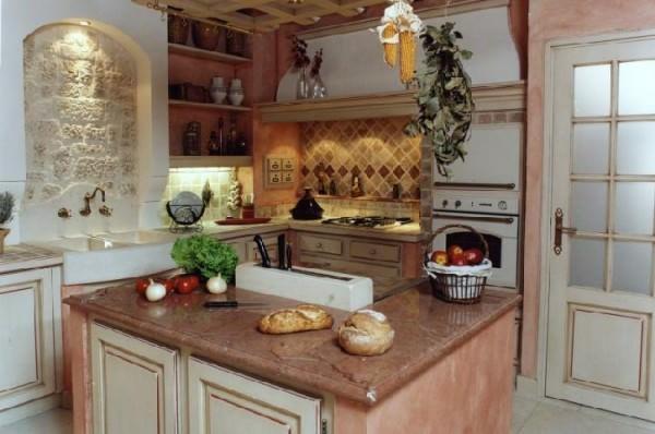 Наивное очарование - кухня в стиле Винтаж