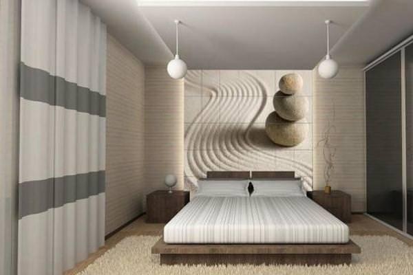 фотообои в спальне в интерьере фото