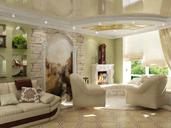 Фото фресок в интерьере прихожей