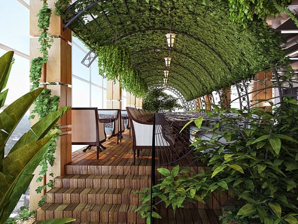 «Зеленый» и «цветущий» интерьер