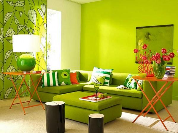 Желто-зеленый интерьер – модно, красиво, современно…