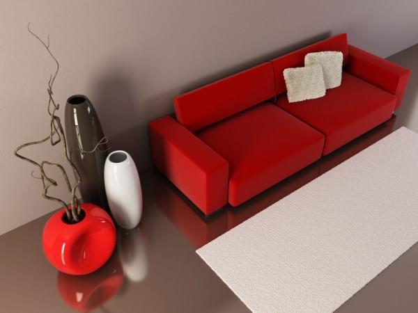 Красный диван в интерьере - опасен и прекрасен!