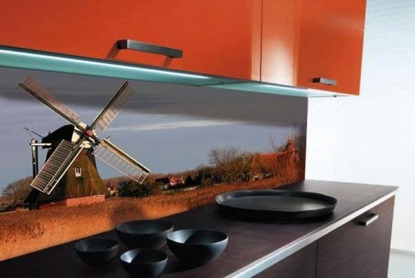 Декоративные панели из стекла для кухни кантри и кухни в стиле романтик