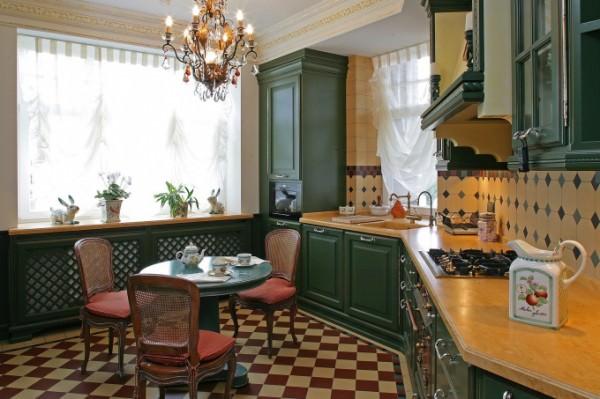 Любимое место в доме – кухня в английском стиле