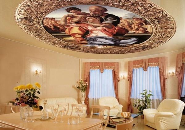 Натяжные потолки в интерьере разных стилей?