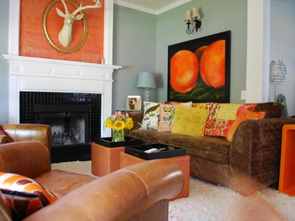 Модное оформление интерьера в персиковом цвете