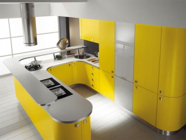 Желтая кухня – радость в доме, салатовая – свежесть и отличное настроение!