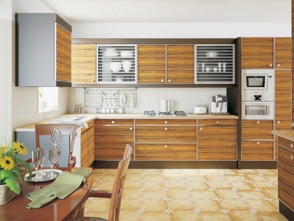 Кухня зебрано – яркий и необычный дизайн