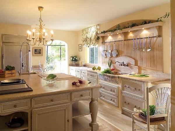 Стиль прованс — французский флер в кухонном интерьере