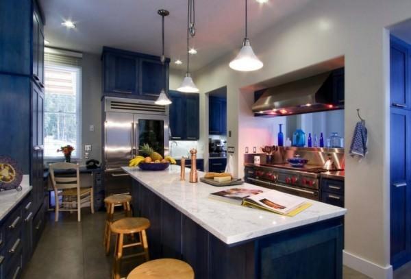 Синяя кухня – секреты дизайна!