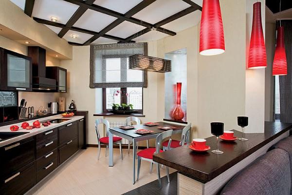 Дизайн интерьера: японская кухня