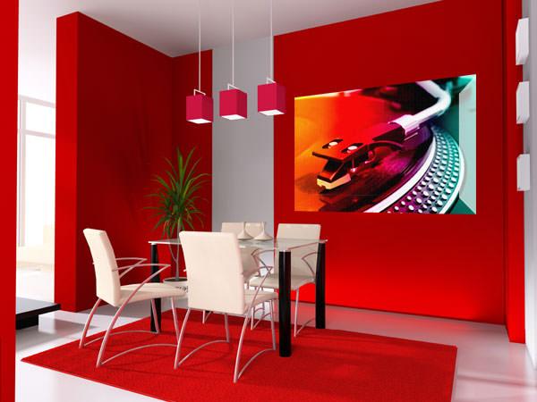 Красный цвет в интерьере наших квартир