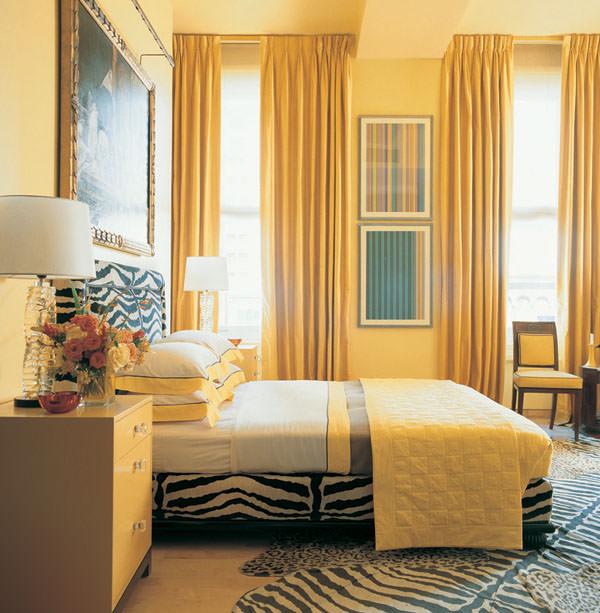 Современная спальня – спальня, оформленная в желтом цвете
