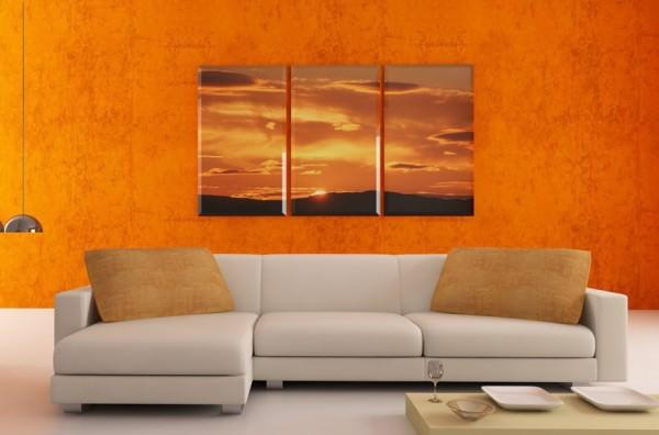 Бодрость и настроение - оранжевая гостиная